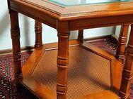Beistelltisch Tisch Couch Sofa USA Kalifornien Holz Massiv Glas Santa Barbara - Nürnberg