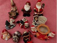 Weihnachts-Deko-Set - 10 Teile a. Keramik - meißt Weihnachtsmänner - Groß Gerau