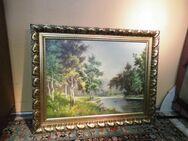 Sehr schönes Gemälde von Eugen von Ottendorf / Seeidyll / Waldsee mit Entenpaar - Zeuthen
