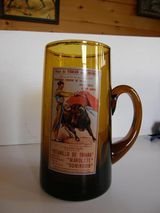 Bierkrug aus Glas aus Spanien
