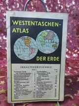 Antiker Westentaschenatlas der Erde um 1935 / Atlas, Brockhaus Verlag Leipzig