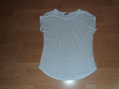 T-Shirt von Janina, wollweiß mit Muster, Gr. 42 - Bad Harzburg