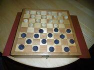 Mühle-/Dame-Spiel mit Holzkiste - Gelsenkirchen Buer