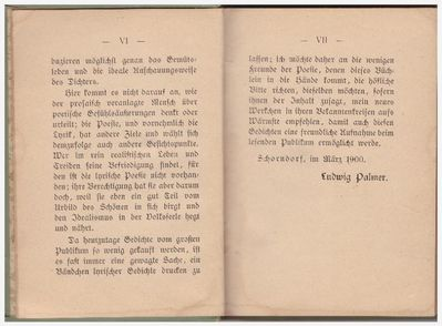 Ludwig Palmer Poetische Stimmungsbilder Gedichte - Spraitbach
