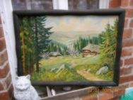 Landschaftsbild (Ölmalerei) - Harzgerode