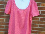 T-Shirt mit Raffung rosa/pink, neu, Gr: XXL - Immenhausen