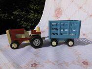 DDR Spielzeug Traktor Fortschritt ZT + Anhänger ca.1970 / Blech + Plaste / RAR - Zeuthen