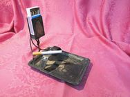 Antike Rauchergarnitur / Aschenbecher mit Streichholzhalterung / Jugendstil 1900 - Zeuthen