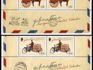 """GB, Gibraltar: MiNr. 1547 - 1550, 20.06.2013 """"Europa: Postfahrzeuge"""", Satz, Unterrand, postfrisch - Brandenburg (Havel)"""