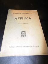 Antike Landkarte Afrika von Velhagen und Klasings um 1939 / WK II / Wehrmacht