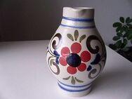 Knödgen Bembel 1 Liter Wein Krug Weinkrug Westerwälder Keramik Blumen Dekor floral 8,- - Flensburg