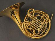 Hans Hoyer 6801 G-L Bb / F - Doppelhorn, Goldmessing, Sonderanfertigung, NEUWARE
