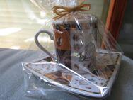 Espresso Tasse Coffee mit Unterteller und Kerze in der Tasse - Weichs