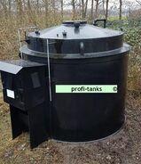 P95 gebrauchter 10.000L Polyethylen PEHD-Tank Kunststofftank Chemietank Industrietank Wassertank Flachbodentank mit Außenwanne doppelwandig lichtundurchlässig