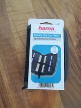 Hama Speicherkarten-Tasche Mini für 10 Speichermedien, Schwarz/Grau