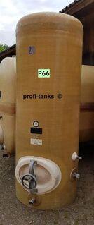 P66 gebrauchter 1.000 L Polyestertank GFK-Lagerbehälter Regenwassertank Flüssigfuttertank Molketank Melassetank Rapsöltank Kartoffeldampfschalen Gülletank Sickersaft - Nordhorn
