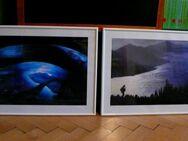 2 Bilder mit Passepartout in weißem Kunststoffrahmen 52cm X 72cm - Lindenberg (Allgäu)