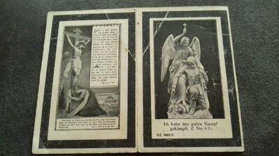 Sterbebild 3,Garde Rgt z.Fuß 1.Kompanie 1.Bal. - Overath