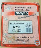 Mayco Profilholz-Paneelkrallen K250, Nut 2,5 mm,350 Stück für ca.16 m²