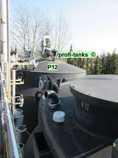 P12 PE-Tank 30.000 L Kunststofftank AHL-Tank ASL-Tank Chemietank Salzsäuretank Gülletank - Nordhorn