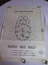 Plakat FOLKGALERIE Berlin Kunst aus Bali 02.12.1976 - 07.01.1977 / Sammler