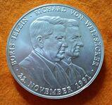 """38,35 Gramm Silbermedaille """"Ein Herz für Kinder in Russland"""" 22.11.1991 Jelzin und Weizsäcker"""