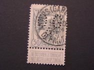 Belgien Leopold II.,50c.,gelocht,1905-15,  Mi:BE 75,Lot 431