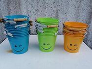 Blumentopf, Übertopf, blau, grün, orange, 29 Stk., Neu - Albstadt