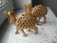 2 Holz Kamele Babys inside Handarbeit Krippenfiguren? handgeschnitzt Deko Vintage Retro zus. 15,- - Flensburg