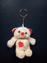 Schlüsselanhänger Teddy Bär Plüsch mit Herz