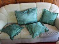 vier Kissen Farbe grün - Hennef (Sieg) Zentrum
