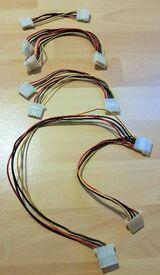 4 x Stück PC Interne Stromversorgung Kabelsplitter