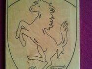 Ferrari Wappen Logo Graviert auf Holz Sebastian Vettel Scuderia - Hagen (Stadt der FernUniversität) Dahl