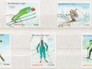 Olympia-Briefmarken 1992 Albertville von Nicaragua -4 (357) - Hamburg