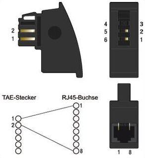 """RJ45+RJ11 Fax/Modem UK / DE Klinkenstecker-Telefon-Adapter """" NEU """" - Verden (Aller)"""