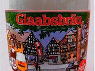 Bierkrug aus Steingut - Glaabsbräu Seligenstadt Marktplatz Brauerei - 0,5 l Volumen Bierseidel - Groß Gerau