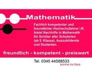 Biete Nachhilfe MATHEMATIK - zwei Unterrichtsstunden a 45 Min. - Halle (Saale)