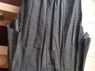 Herrenhemd Kurzarm schwarz-grau gestreift  Gr.XXL 45-46 - Euskirchen