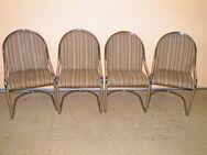 Vier schöne Freischwinger / Stühle mit verchromten Gestell - Zeuthen
