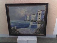 "Bild  ""Seeufer, 69 x 59 cm mit Holzrahmen - Simbach (Inn) Zentrum"