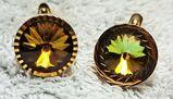 Herren Vintage-Manschettenknöpfe aus den 70er Jahren Gold-Double