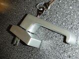 WSS - Aluminium-Fenstergriff,abschliessbar,EV1,25 mm Gabel