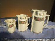 3 kleine antike Porzellankännchen um 1910 Jugendstil / Küchenkännchen - Zeuthen