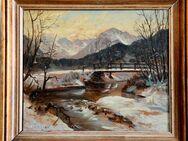 Top-Gemälde FERDINAND GEISSELMANN (1905), Allgäuer Winterabend um 1935! - Berlin