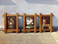 Motivbilder mit Eiche-Massiv-Holz-Rahmen in sehr gutem Zustand, aus unserer Sammlungs-Auflösung, 3-Stck.-Komplett-Angebot - Simbach (Inn)