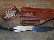 "Buckaroo knife mit ""quick draw"" Leather-Sheath K142 - Ratingen"
