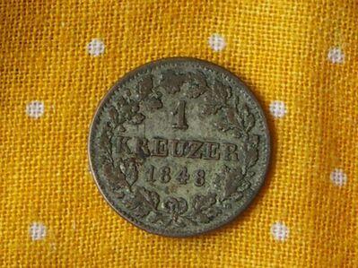 1 Kreuzer Bayern,1848,Ludwig I.,Lot 318 -