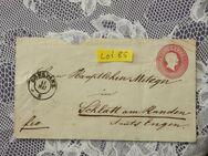 Baden 3 Kreuzer Ganzsachen  Briefumschlag 1865,Lot 85