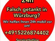 Falsch getankt in Würzburg? Wir helfen Ihnen 24h Mobil vor Ort! 24h-ServiceHotline +4915226874402 - Nürnberg