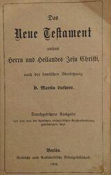 Das neue Testament von 1904